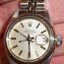 Rolex Ladies Ss Perpetual Date 6919 Silver Dial 26mm Jubilee...