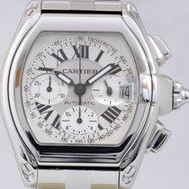Cartier Roadster Chronograph XL Stahl silver dial Automatik...