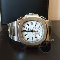 Patek Philippe 5980/1A Nautilus Chronograph White Dial
