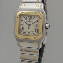 Cartier Santos Galbee 1566 -Stahl-Gold