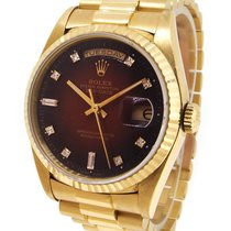 Rolex Oyster Perpetual Day-Date 18K Gold 18238A, Orig. Diamond...