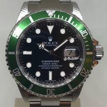 Rolex Steel SUBMARINER Green Bezel 16610LV