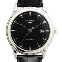 Longines Flagship Stainless Steel Black Automatic L4.874.4.52.2