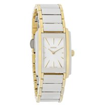 Rado Integral Ladies White Dial Two Tone Stainless Steel Watch...