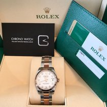 Rolex Datejust Rose Gold White Dial with Diamonds