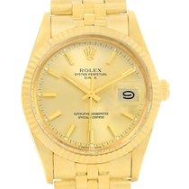 Rolex Date Mens 14k Yellow Gold Vintage Mens Watch 15037 Box...