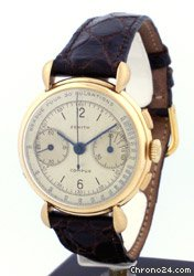 Zenith 2 Register Chronograph circa 1930&amp;#39;s