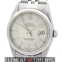 Rolex Datejust Stainless Steel 36mm Silver Stick Dial A Series