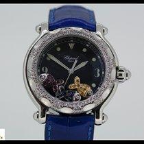 Chopard Happy Beach Steel quartz watch with 3 fish and diamond...