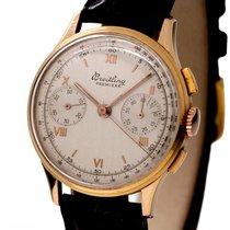 Breitling Vintage Premier Chronograph 18k Rose Gold Bj 1955