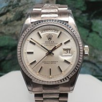 Rolex Call Now Day Date President Pie Pan 1803 18k 36mm  w/Box