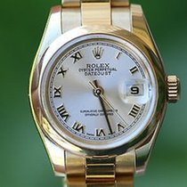Rolex Ladies 26mm President 18k Yellow Gold 179168 Oyster...