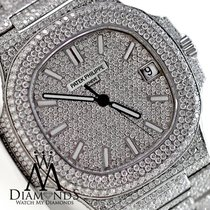 Patek Philippe Nautilus Automatic Mens Diamond Watch Box &...