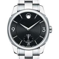 Movado LX Mens Dress Watch - Black Dial - Stainless Steel Case...