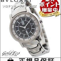 Bulgari 【ブルガリ】 ソロテンポ レディース腕時計【中古】 クォーツ ST29S SS/ブラック文字盤 デイト機能0329