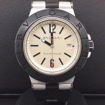 Bulgari Diagono Aluminum 38mm Silver Dial Date Feature Ref....