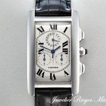 Cartier TANK AMERICAINE WEISSGOLD 750 CHRONOGRAPH