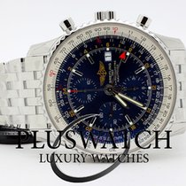 Breitling Navitimer world steel Blue Dial New  Nuovo