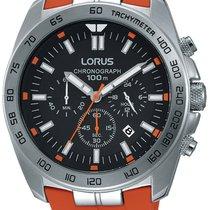 Lorus RT331EX9 Sport Chronograph 46mm silber orange 100M