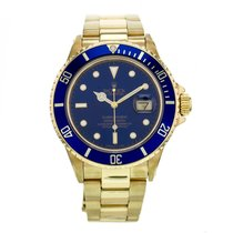 Rolex Submariner Yellow Gold Automatic Blue Dial Men's...