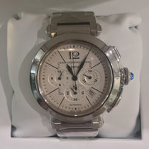 Cartier PASHA STAINLESS STEEL CHRONOGRAPH WHITE DIAL