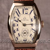 Omega Tank Tonneau Xl Vntage 1915 Solid Red Gold Watch Cal. 26.5