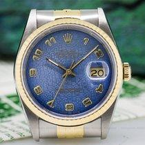 Rolex 16233 Datejust Blue Jubilee Dial 18K / SS (26010)