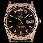Rolex 18k R/G Unworn Chocolate Dial Day-Date Gents B&P 118135
