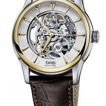 Oris Artelier Skeleton Gold Plated Leather
