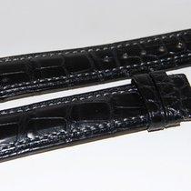 Lederband Kroko schwarz  für Dornschließe