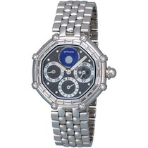 Gérald Genta 18K White Gold Success Perpetual Calendar Men's...