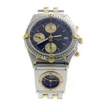 Breitling Black Chronomat Steel & 18K Yellow Gold with...