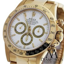 Rolex Ladies Rolex Daytona 18k Yellow Gold 40mm White Dial...