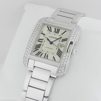 Cartier Tank Anglaise MEDIUM 18kt White Gold AUTHENTIC wt100009