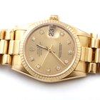 Rolex Midsize 18K Yellow President -Champagne Diamond Dial- 68278