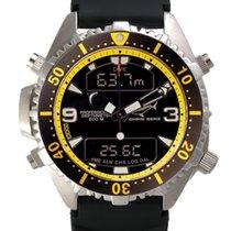 Chris Benz Depthmeter Digital CB-D200-YS-KBS Herrenchronograph...
