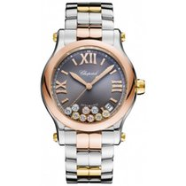 Chopard Happy Sport 36mm Stainless Steel and Rose Gold