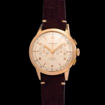 Lemania Vintage 105 Chronograf Pink gold