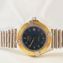Breitling Callistino Lady Steel Gold Blue Dial 28mm Date Ref:...