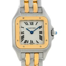 Cartier Panthere Ladies Steel 18k Yellow Gold 2 Row Watch...