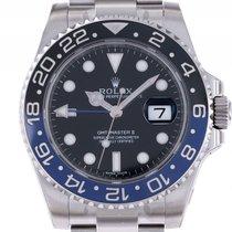ロレックス (Rolex) GMT Master II Blau Schwarz Batman Keramik Stahl...