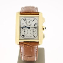 Cartier TankFrancaise Chronoflex 18KYellowGold (B&P2010) 28mm