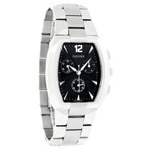 Concord La Scala Mens Black Dial Swiss Chonograph Watch 0311109