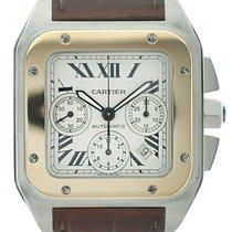 Cartier Santos 100 Chrono Acc-Oro 12/2008 COME NUOVO art. Ca189