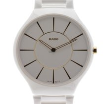Rado True Thineline ceramica bianca quarzo