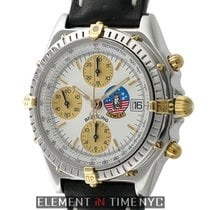 Breitling Chronomat Steel & 18k Yellow Gold White Dial...