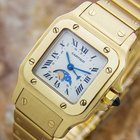 Cartier Luxurious Santos Date And Moonphase 18k Solid Gold...
