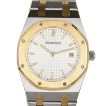 Audemars Piguet New  Royal Oak Gold And Steel Silvery White...
