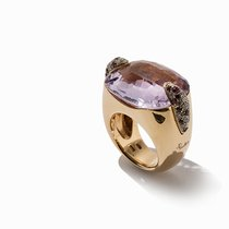 Pomellato , Statement Ring with Amethyst & Diamonds, 18K Gold