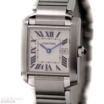 Cartier Tank Francaise Medium Size Stainless Steel Bj-2003...